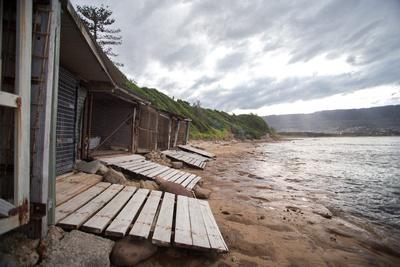 boat sheds at sandon point