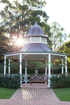 gazebo at the wollongong botanic gardens