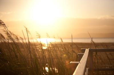sun setting Lake illawarra
