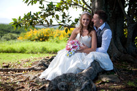 wedding photo couple under figtree
